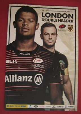 LONDON DOUBLE HEADER 02/09/2017 Saracens v Northampton and London Irish v Quins