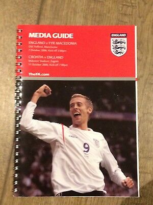 England V Macedonia, Croatia V England- October 2006- Fa Media Guide