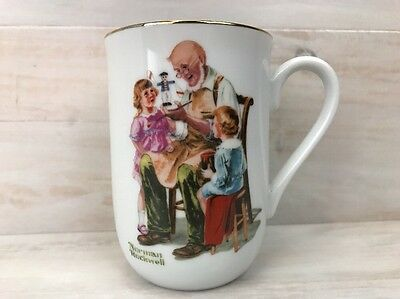 Coffee Tea Cup Mug Norman Rockwell The Toymaker 1982