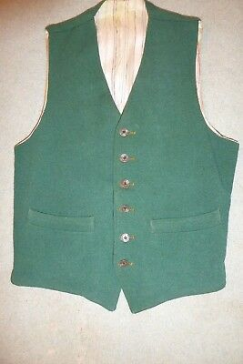 Vintage green waistcoat hunting country small