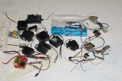 VINTAGE RC PARTS LOT CRYSTALS ASSOCIATED FUTABA TEKIN TRAXXAS 10th SCALE BUMPERS