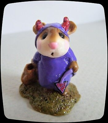 Wee Forest Folk Little Devil (purple) BRAND NEW in Bag M-61 *Special-Mouse Expo