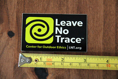 LEAVE NO TRACE Outdoor STICKER Decal NEW Small