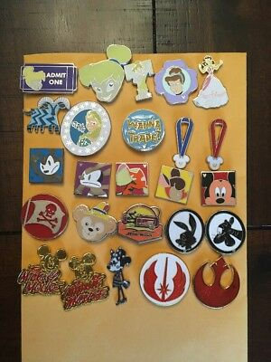 ☀️disney Trading Pin Lot Of 20 Pins Collection Disneyland Exactly These Pins