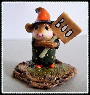 Wee Forest Folk Little Boo-Boo green with dots M-214 -Retired-