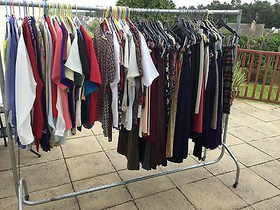 Lot Job Lot 100 Items Ladies 1990's Clothing Blouses Tops Skirts Some +Tags GC