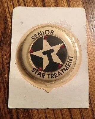Vintage Texaco Star Treatment Button Light Up NIP Gas Advertising