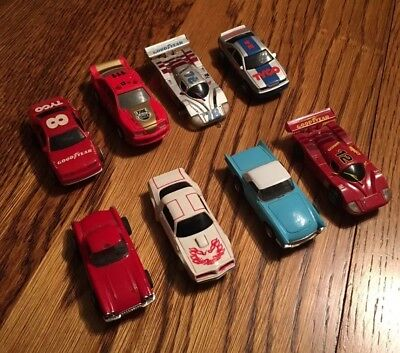 Vintage Tyco Slot Car Lot Goodyear Firebird Monroe Fire Chief