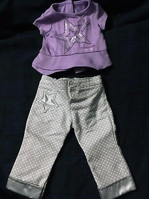 American Girl Place Purple and Silver Outfit from New York City