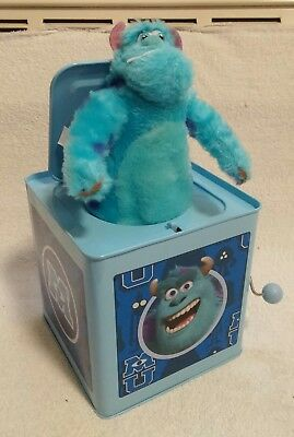 Gemmy SULLEY Jack In The Box Disney Monsters Inc University Tin Musical 2013