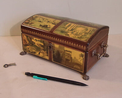 A Nice REUGE (Switzerland) Music Box, Wood w/ Scenic Decor.  4 Songs, 52 Notes