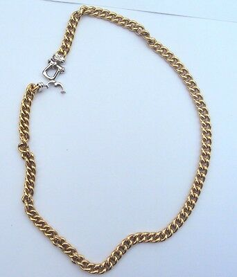 18 K Gold Curb Chain 26.9 Grams 17 Inches Jmp Mark Italy