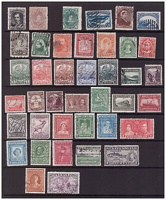 Newfoundland used collection - 40 stamps total