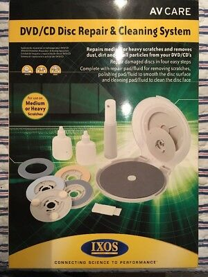 BNIP • IXOS DVD/CD Repairer/Cleaning System • AV Care Repairs Scratches