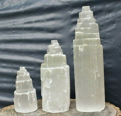 Selenite Mountain/Tower Crystal 5,10,15cm BEST VALUE EBAY, Buy in Multiples Save