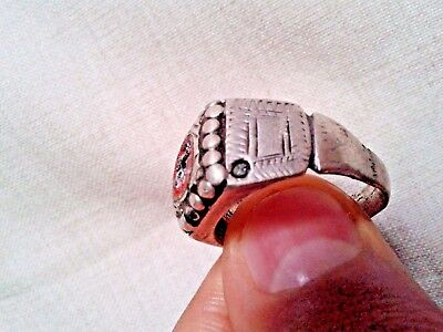 ancient silver late Roman , nicely engraved ring