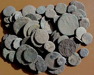 100 Uncleaned   Ancient Bronze Coins
