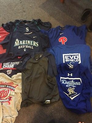 Men's Lot of 13 baseball T shirts 3 sweatshirts, Nike, Under Armour & more