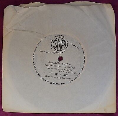 "Sacred Songs – The Holy City 7"" – BCM Records 07475 – VG"