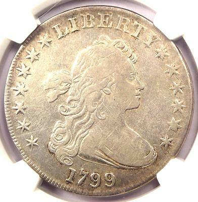 1799 Draped Bust Silver Dollar $1 - NGC VF Details - Rare Coin - Near XF!