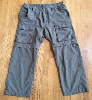 Men's Boy Scout Convertible Polyester Uniform Pants, Relaxed Large