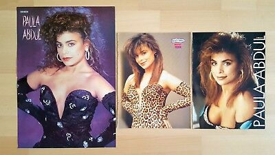 PAULA ABDUL special CLIPPINGS poster pinup lot vintage collection Sammlung 90´s