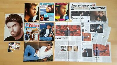 GEORGE MICHAEL Andrew Ridgeley WHAM special CLIPPINGS poster pinup lot Sammlung