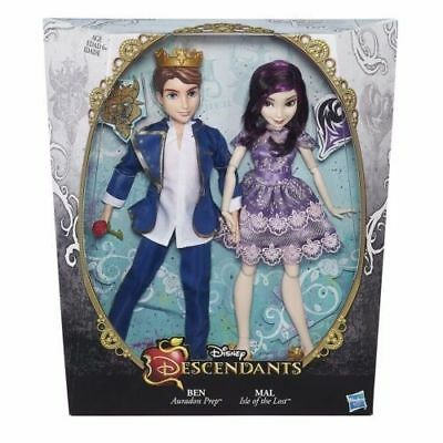 Disney Descendants -Two-Pack-Mal-Isle-Of-The-Lost-And-Ben-Auradon Prep