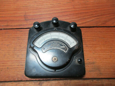 Antique Weston 0-10 Volt DC Voltmeter 1917 1894 Early 1900s late 1800s Steampunk