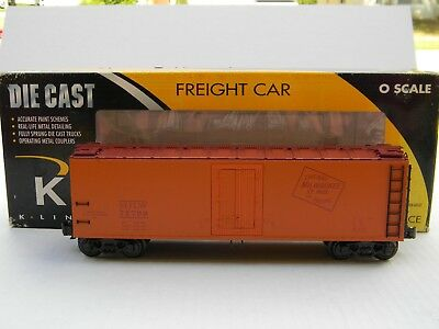 O Scale - K-Line - Milwaukee Road Die-Cast Reefer Train Car K752-1371!