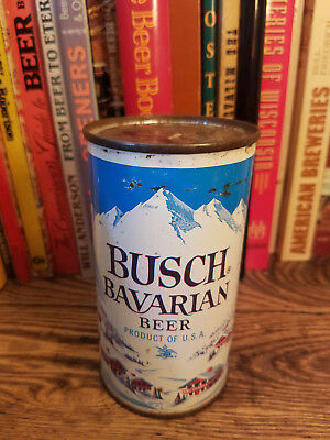 Busch Bavarian 12oz Flat Top Beer Can  4 City  Indoor Can