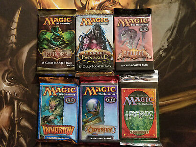 MTG 6 New Booster Pack Lot 2 WOTC Magic the Gathering Alara Reborn Scourge +