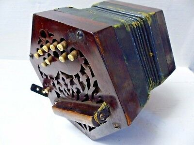 Very Old Concertina - Requires Restoration - Very Rare -L@@k
