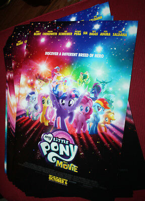 Lot of 38 MY LITTLE PONY THE MOVIE 2017 Posters 20x13 inches