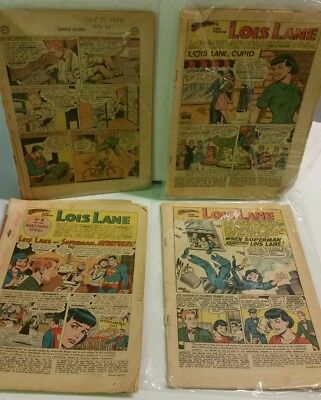 LOIS LANE & JIMMY OLSEN 1960s COMIC LOT X 13 COVERLESS