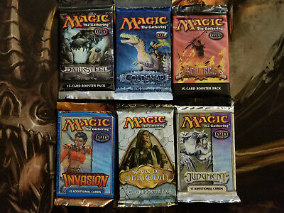 MTG 6 New Booster Pack Lot 5 WOTC Magic the Gathering Darksteel Coldsnap Scourge