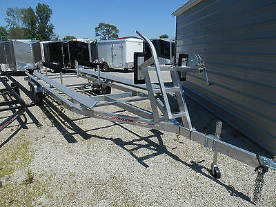 New 24' Pontoon Trailer Float On *galvanized *season End Blowout* Dr Trailer