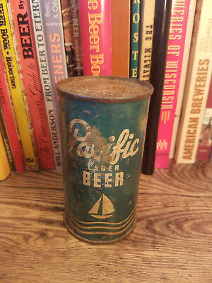 Pacific Lager 12oz Flat Top Beer Can   IRTP