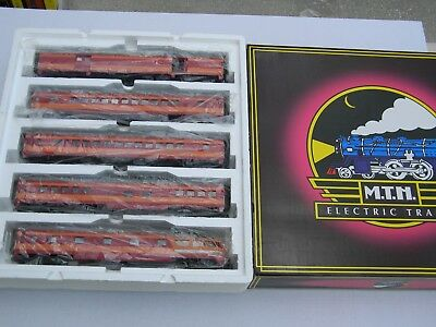 O Scale - MTH - Milwaukee Road (5) Car 70' ABS Passenger Car Set 20-6552!