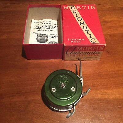 """Martin 48 FLY-WATE """"50"""" Automatic Fishing Reel with Box & Paperwork- Excellent!"""