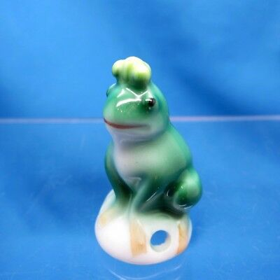 Antique Half Doll FROG Wearing a Crown, Maybe your Prince??? NR