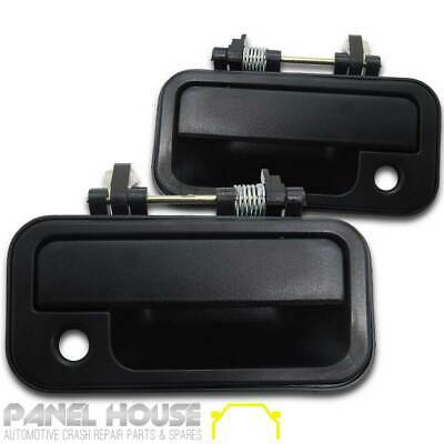 Door Handle Black Front Outer Pair (1 LH & 1 RH) for Holden Rodeo TF Ute '88-'02