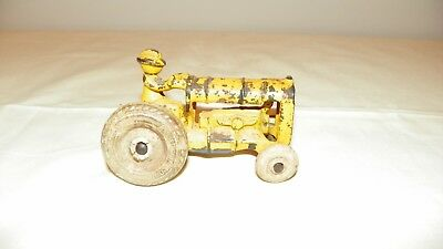 Vintage Cast Iron Tractor, With Driver, Toy Farm All Arcade USA Antique
