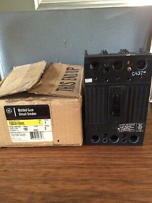 Ge General Electric Tqd32100Wl 100 Amp 3-Pole Tqd Circuit Breaker..new.
