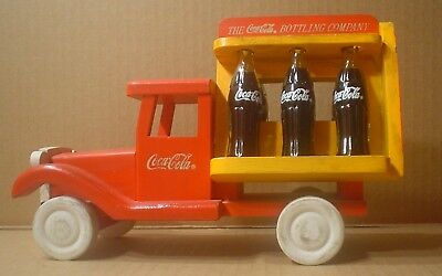 Coca Cola Decorative Wood Delivery Truck ~ Six Mini Bottles of Coke
