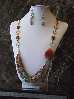 An Autumn Forest - Necklace and Earrings set