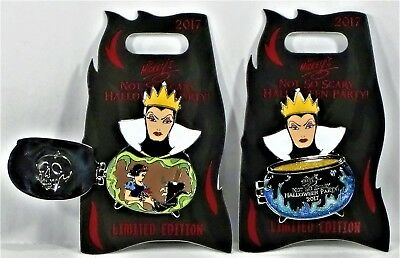 Disney Mickey Not So Scary Halloween Party 2017 Evil Queen 3-D Pin LE 5400 NEW