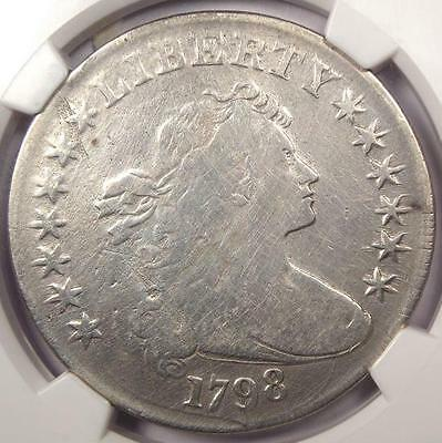 1798 Draped Bust Silver Dollar $1 B-29 BB-119 - NGC Fine Details - Rare Coin!