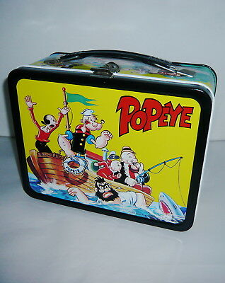 Rare Vintage 1964 Popeye Metal Lunchbox Near Mint