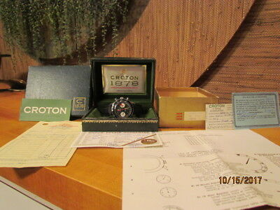 Vintage Croton 1878 Chronomaster Aviator Sea Diver Watch Dive Org Box All Papers